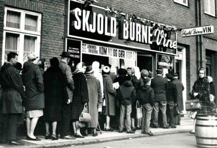 Skjold Burne gamle butik